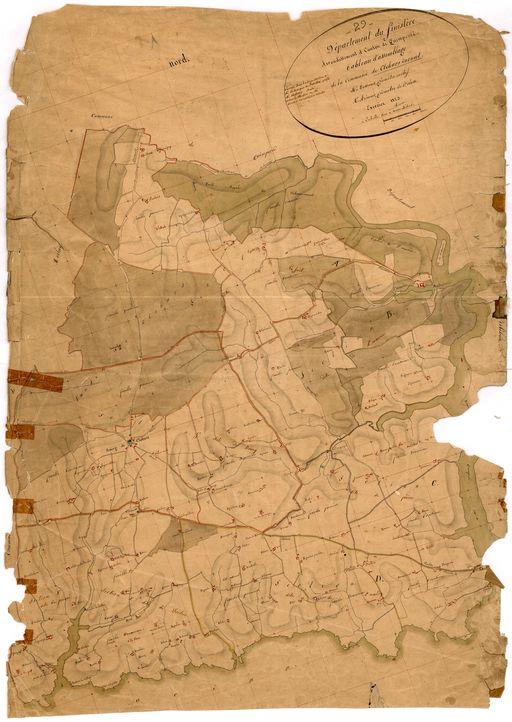 Cadastre de 1823. Tableau d'assemblage (A.D. Finistère, 3P101)