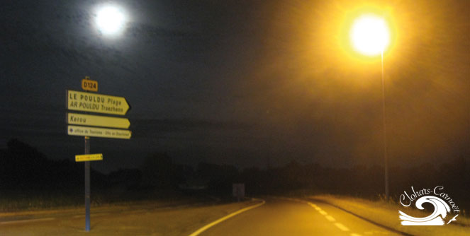Visuel éclairage public Clohars-Carnoët