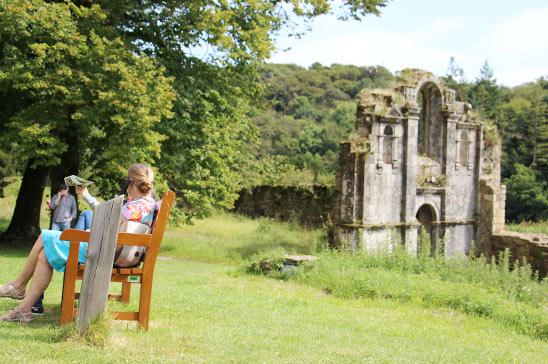 site abbatial de saint maurice Clohars