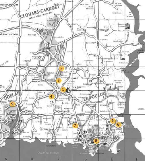 Plan radars pédagogiques Clohars
