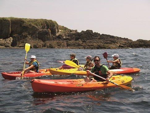 Kayak de mer à Clohars