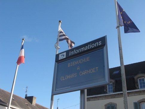 Informations municipales Clohars-carnoët Panneau lumineux