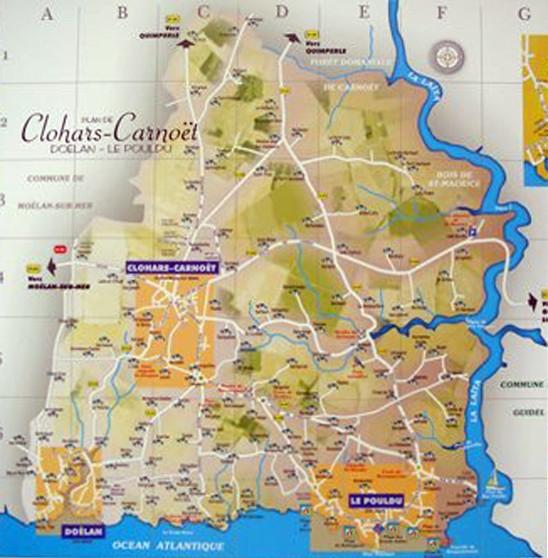 Plan commune Clohars Carnoët