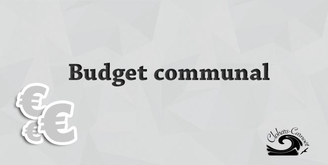 Visuel budget communal