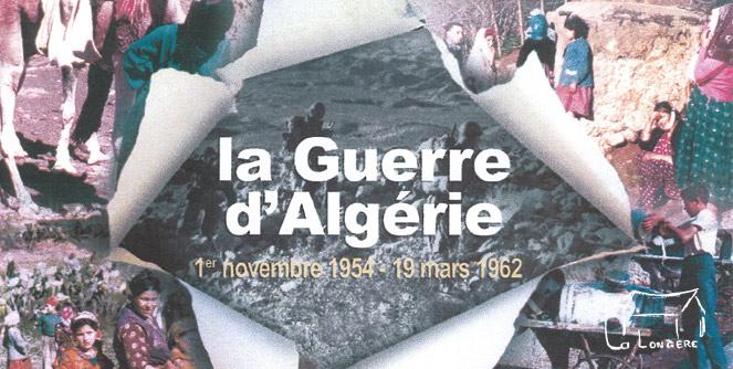 Visuel expo Guerre d'Algérie La Longère Clohars