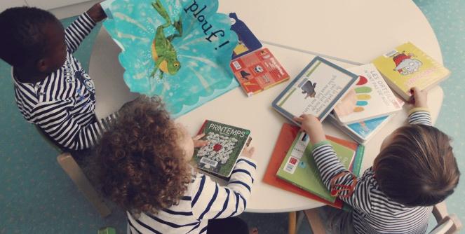 Visuel crèche clohars bourse aux livres