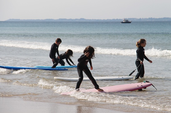 standup paddle kerou plage clohars